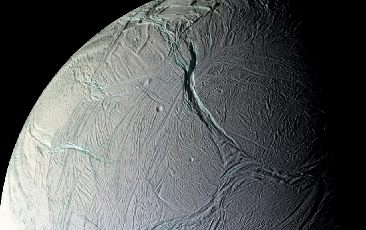 enceladus The moon enceladus conceals a global ocean of salty liquid water beneath its icy surface some of that water even shoots out into space, creating an immense plume for decades, scientists didn't know.