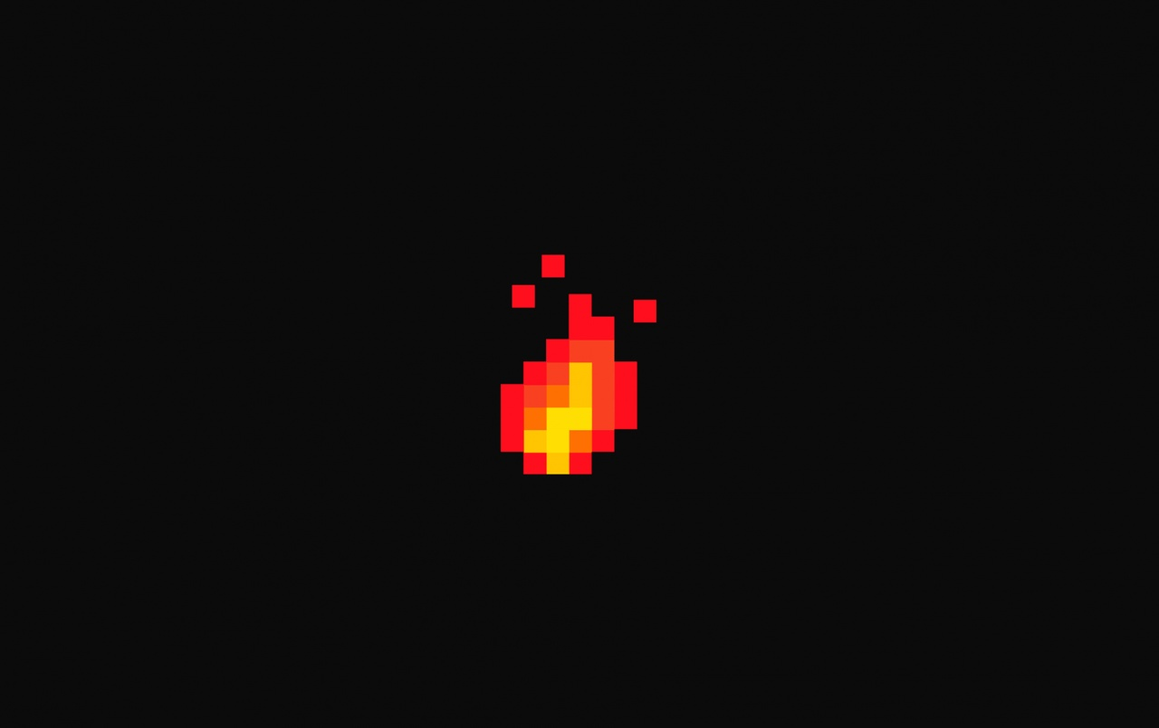 HD 8 Bit Fire Digital wallpapers