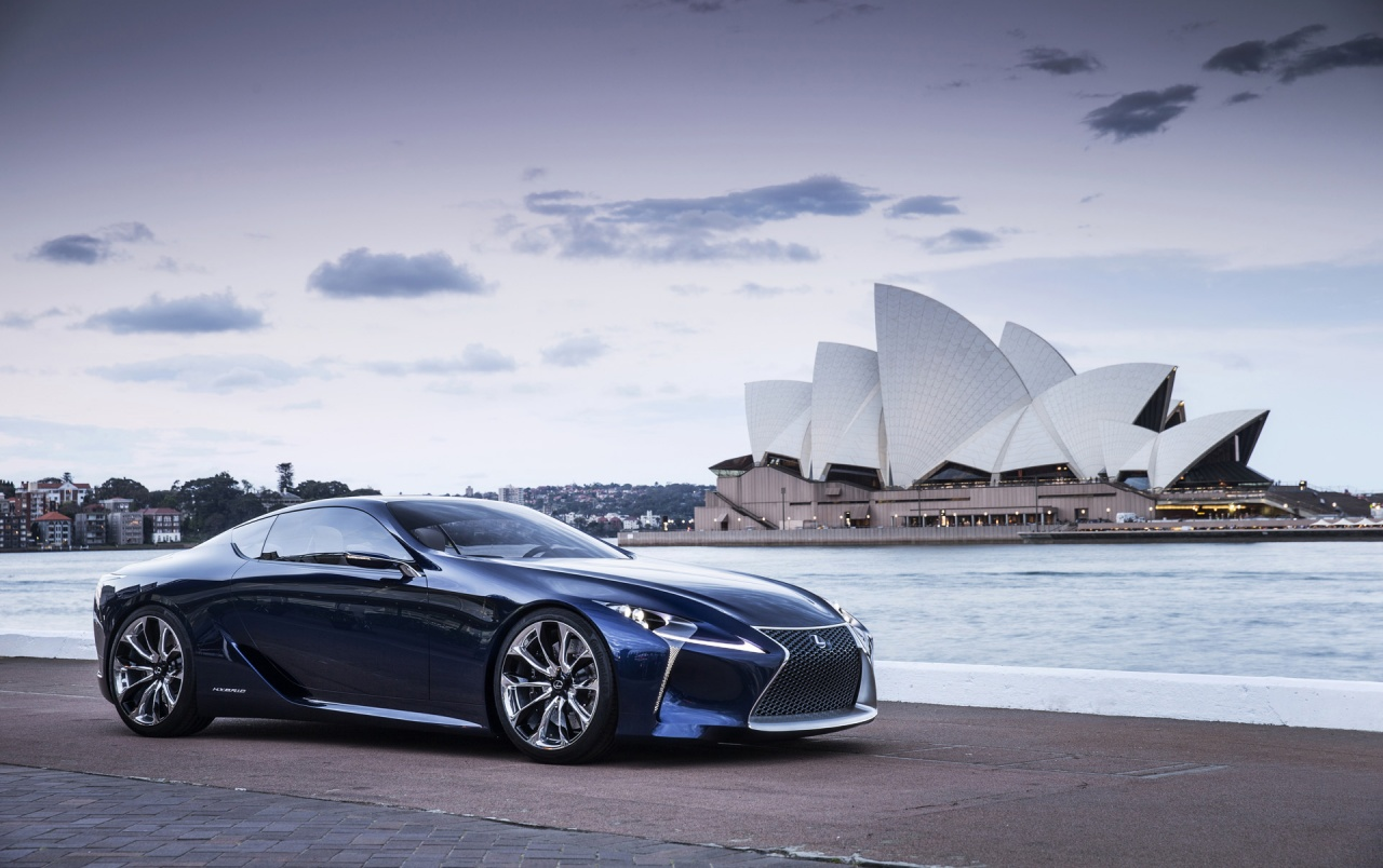2012 Lexus LF LC Blue Concept Static Side Angle Wallpapers