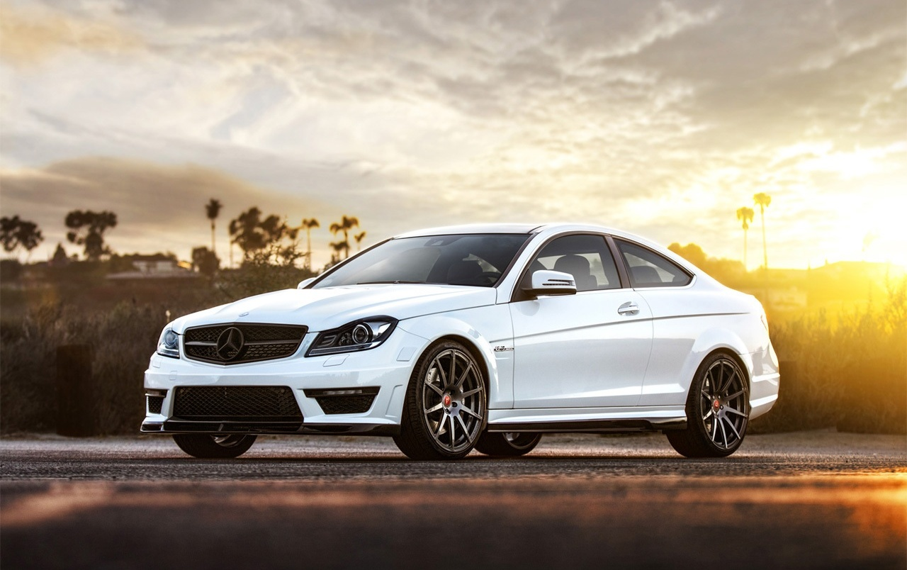 2013 Mercedes-Benz C63 AMG Front Angle Static wallpapers