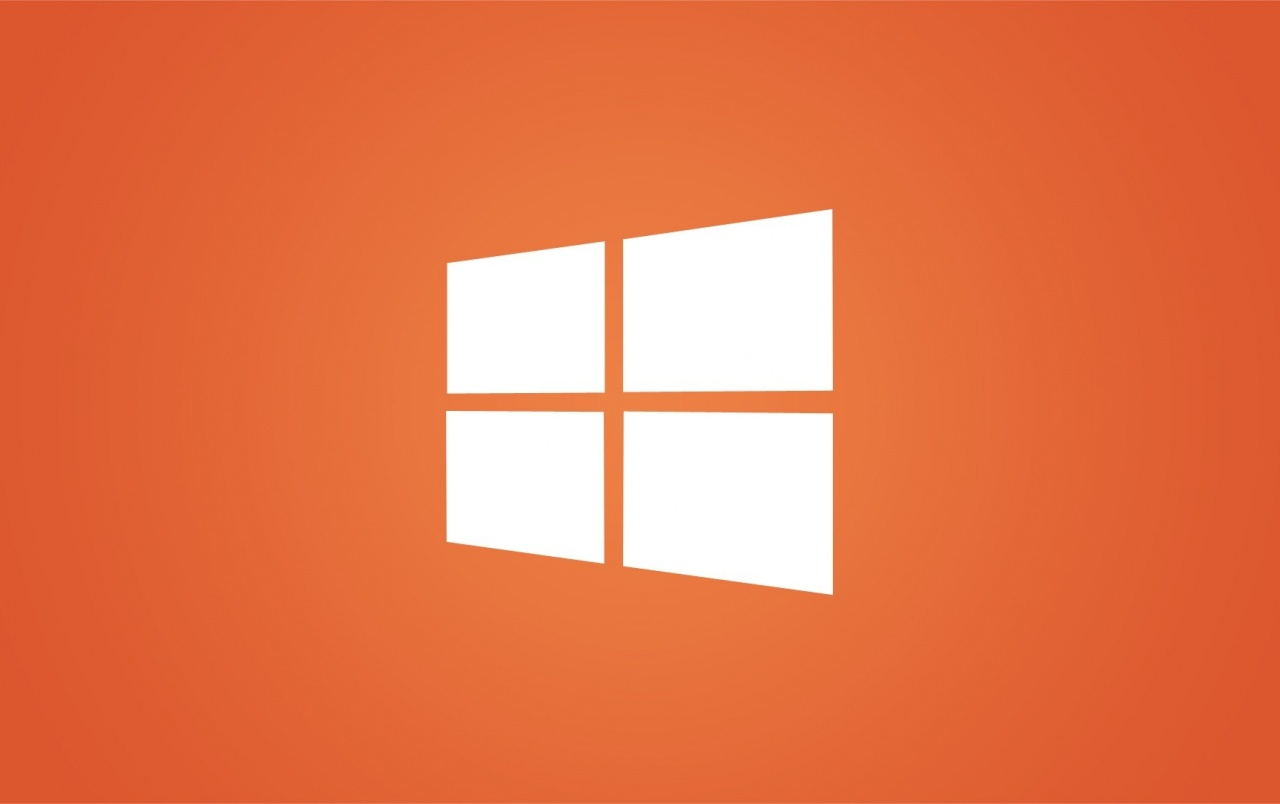 Clean Windows 8 White Logo on Orange wallpapers