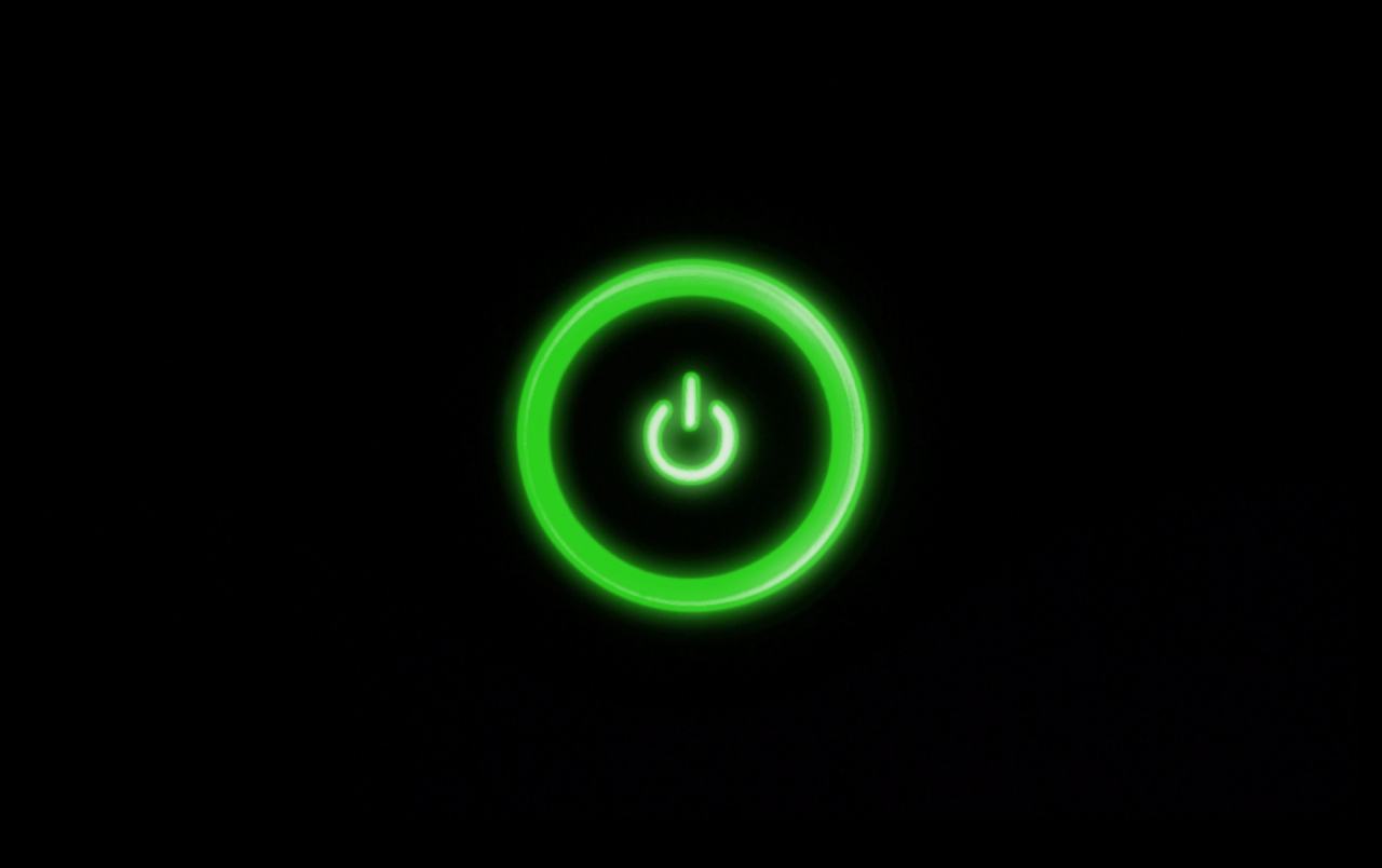 Green Power Button Wallpapers