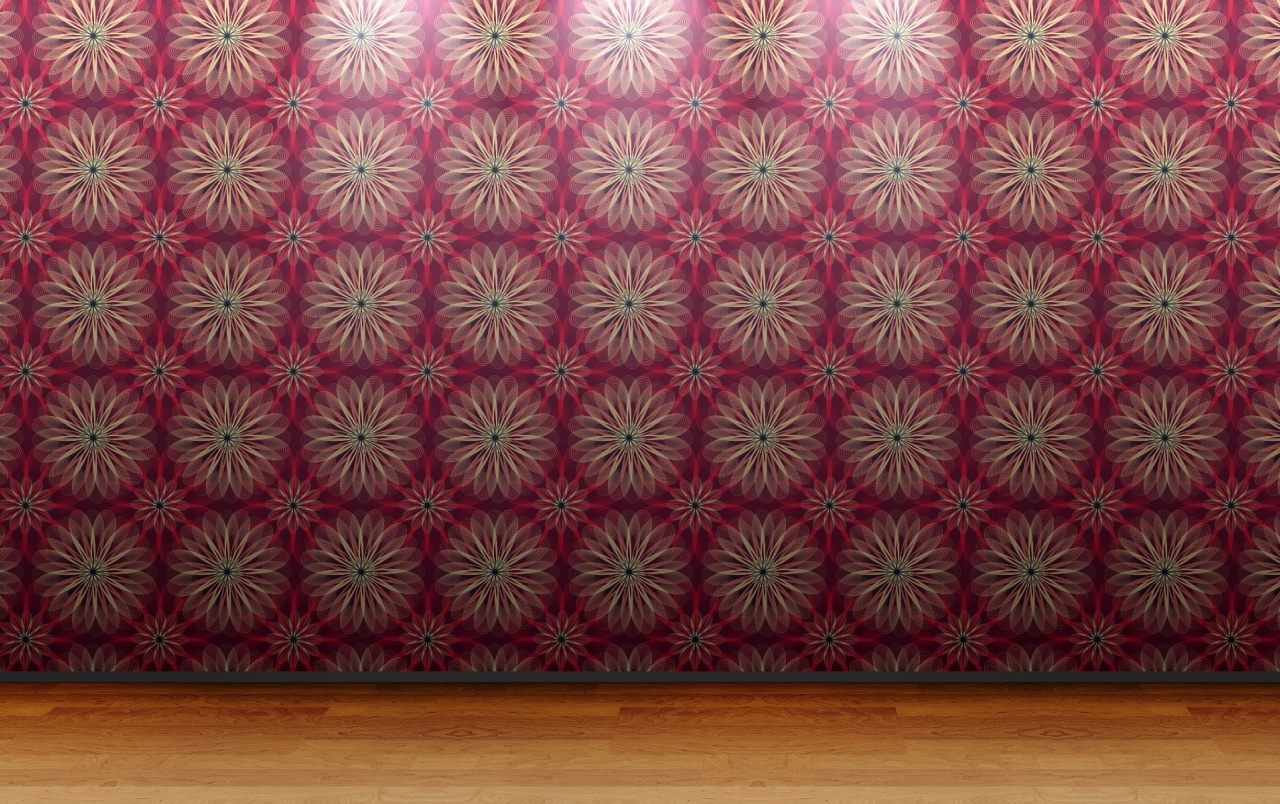 Floral Wall Pattern wallpapers