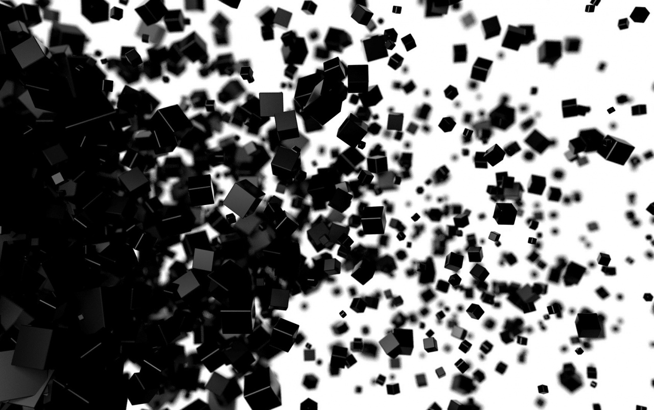 3d black blocks wallpapers 3d black blocks stock photos for Black and white wallpaper 3d