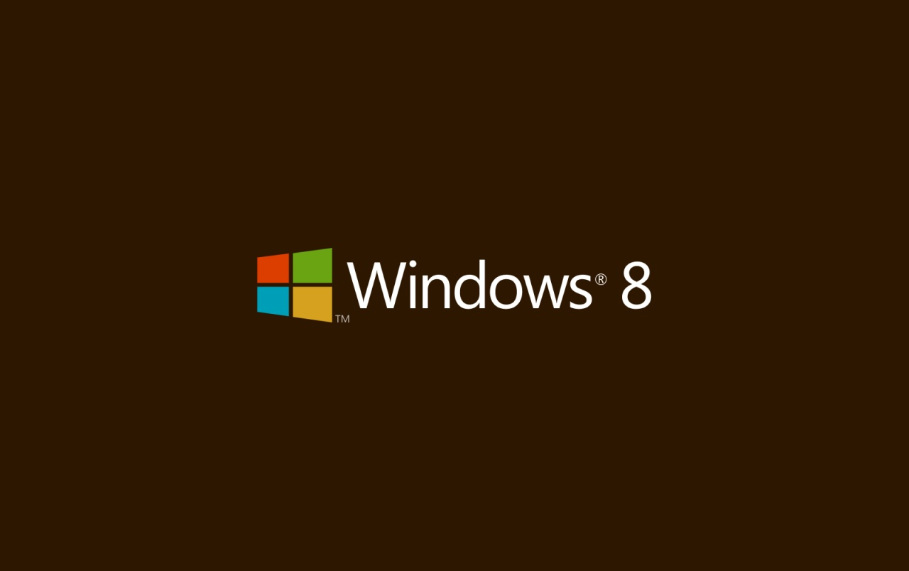 Windows 8 Brown Background wallpapers