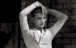 rosie huntington-whiteley black and white wallpapers | rosie