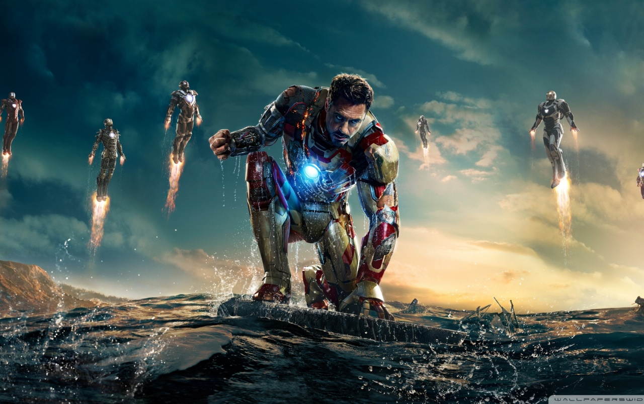 HD Iron Man 3 vs Mandarin wallpapers
