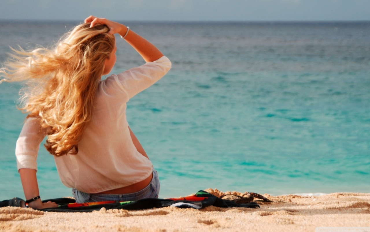 Blonde Girl at the Beach wallpapers