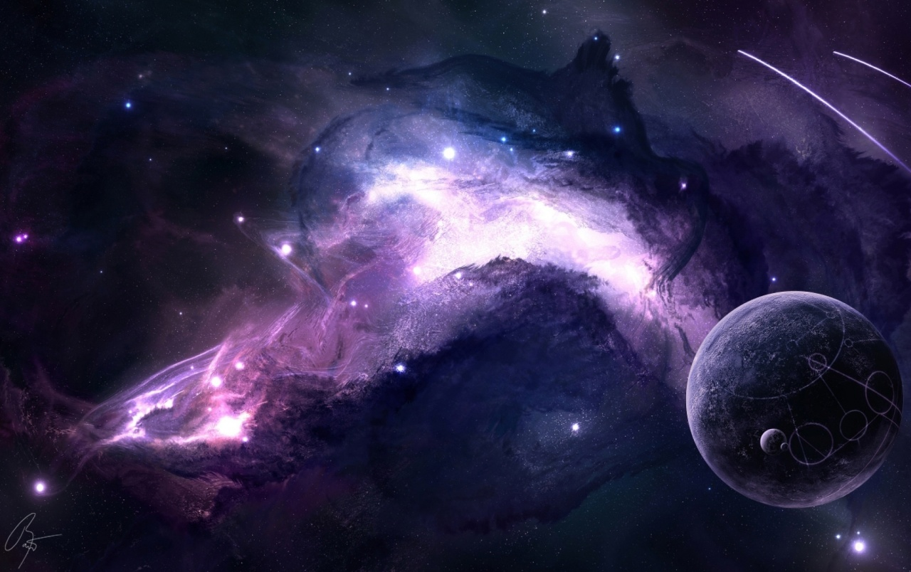 OriginalWide Purple Space Wallpapers