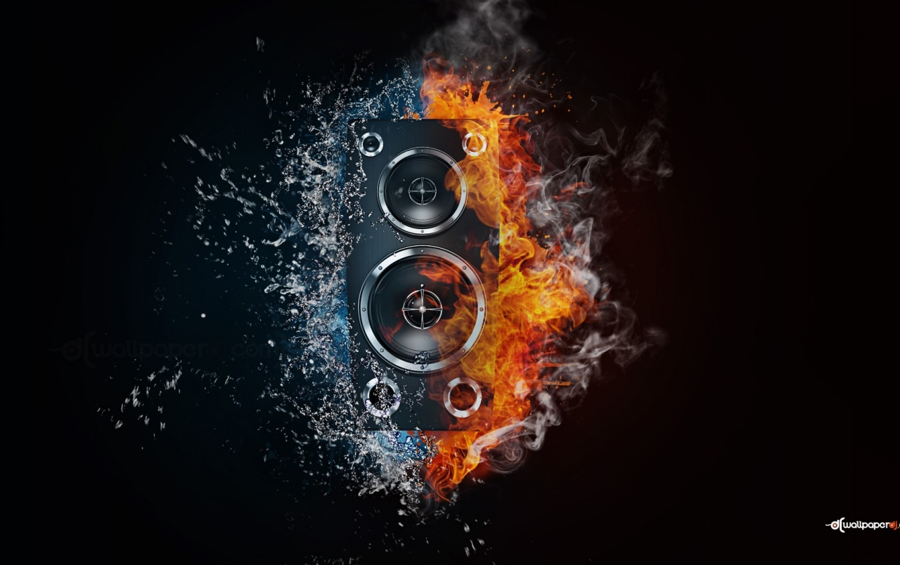 Bass Box Fire & Water wallpapers