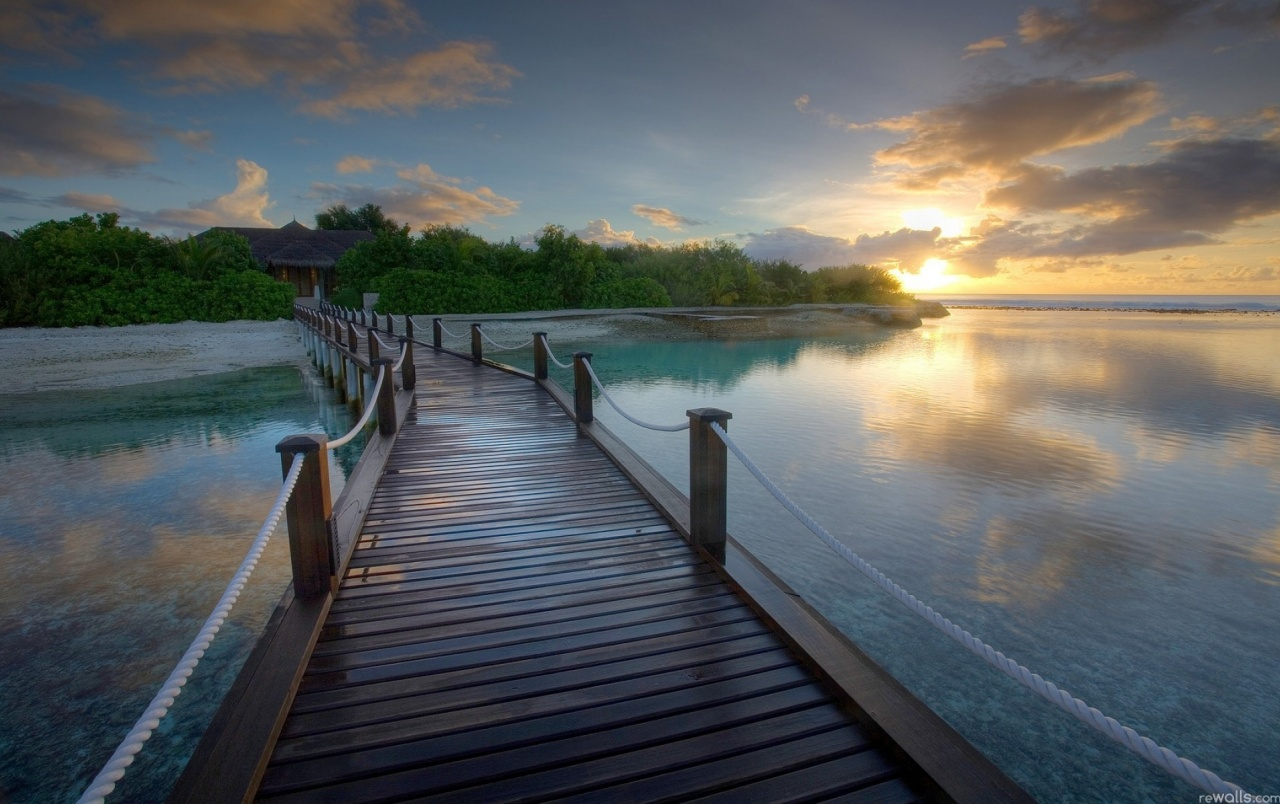 wooden bridge wallpaper - photo #10