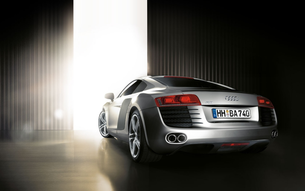 Audi R8 rear wallpapers