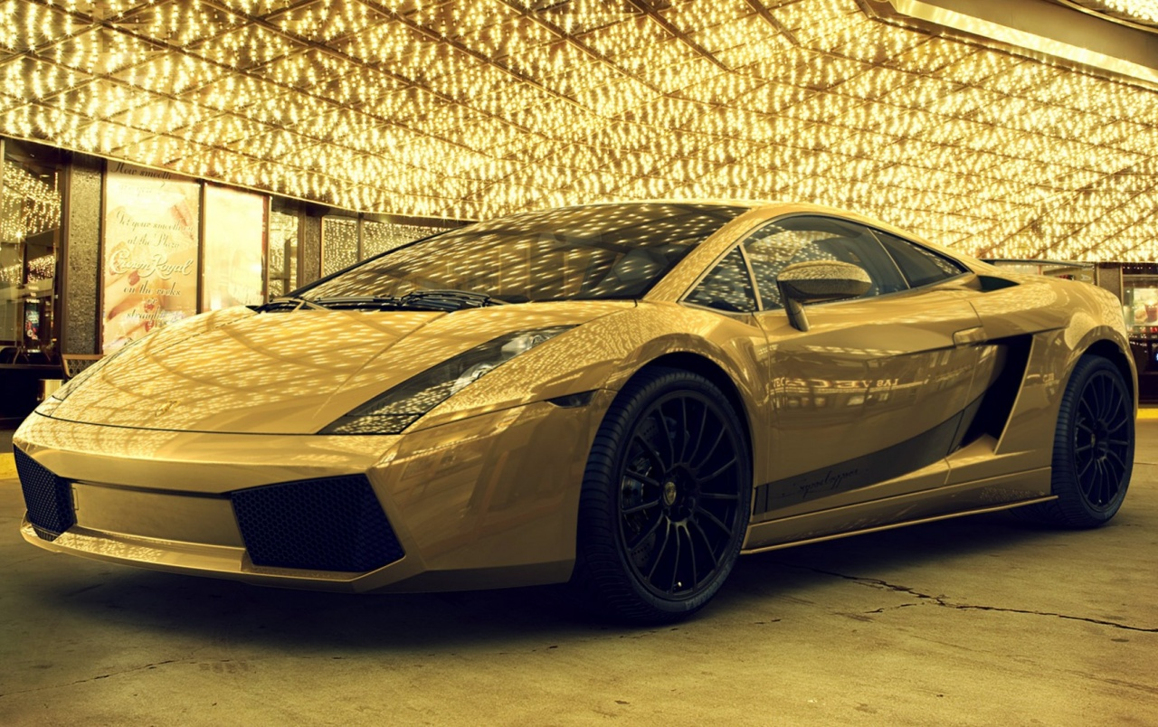 Gold Car Wallpapers: Gold Lamborghini Stock Photos