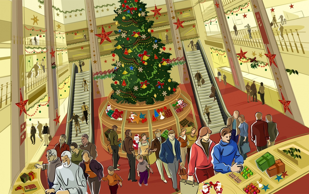 Mall During Christmas wallpapers