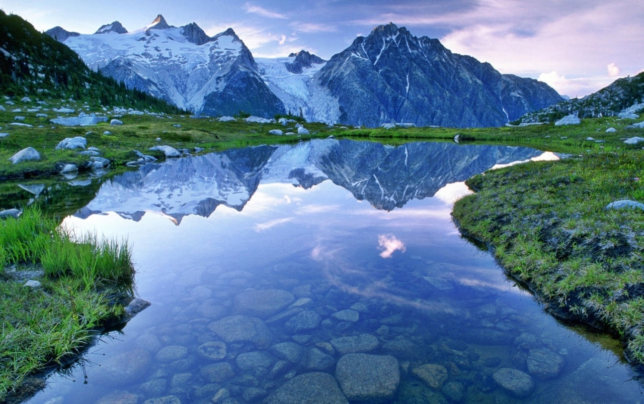 River With Mountain Hd Wallpaper: Columbia Mountain River Grass Wallpapers