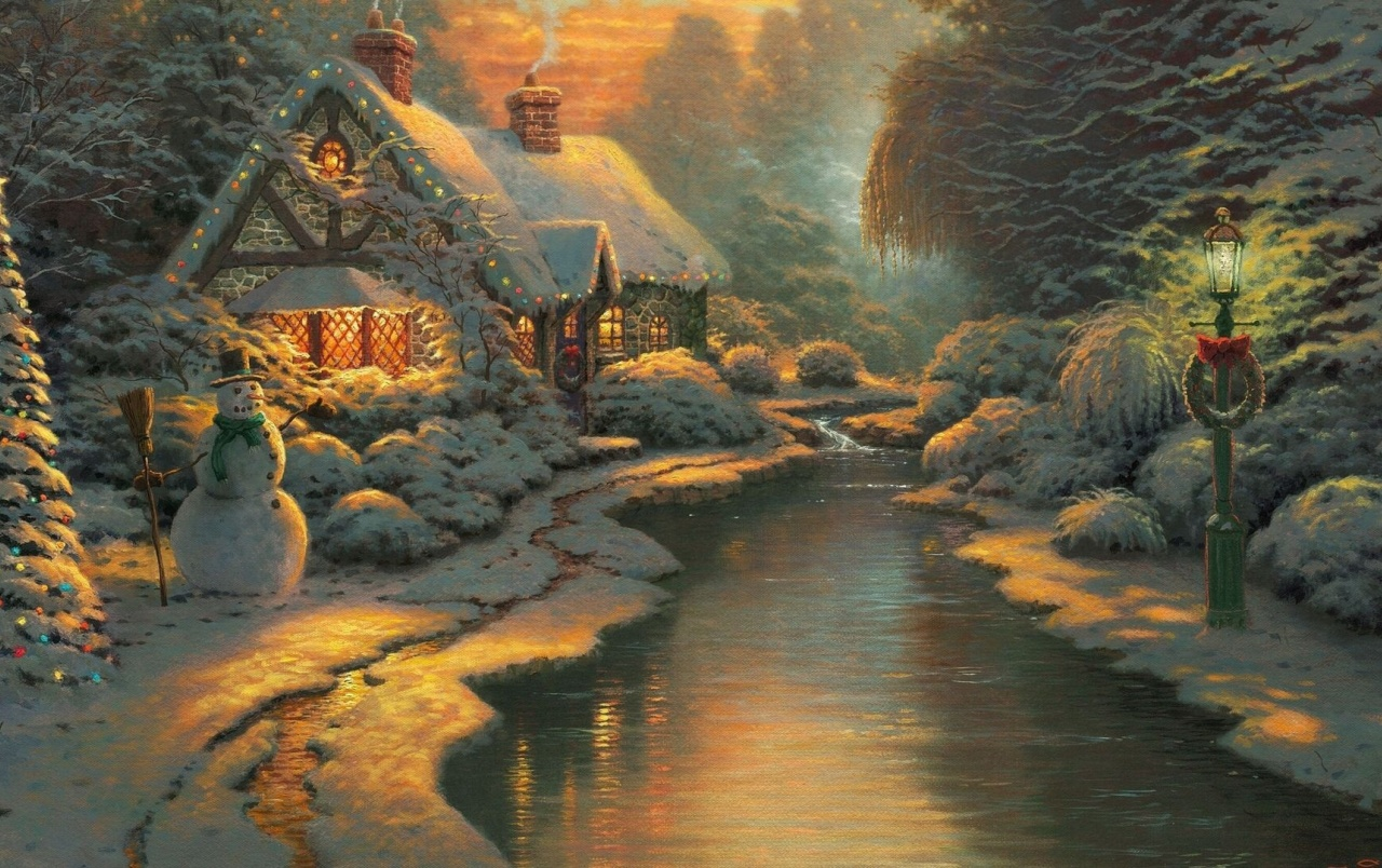 Christmas Cottage Wallpapers Christmas Cottage Stock Photos