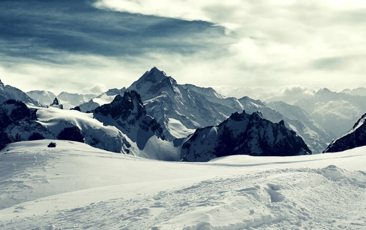 Mountains snow trails wallpapers mountains snow - Hd snow mountain wallpaper ...