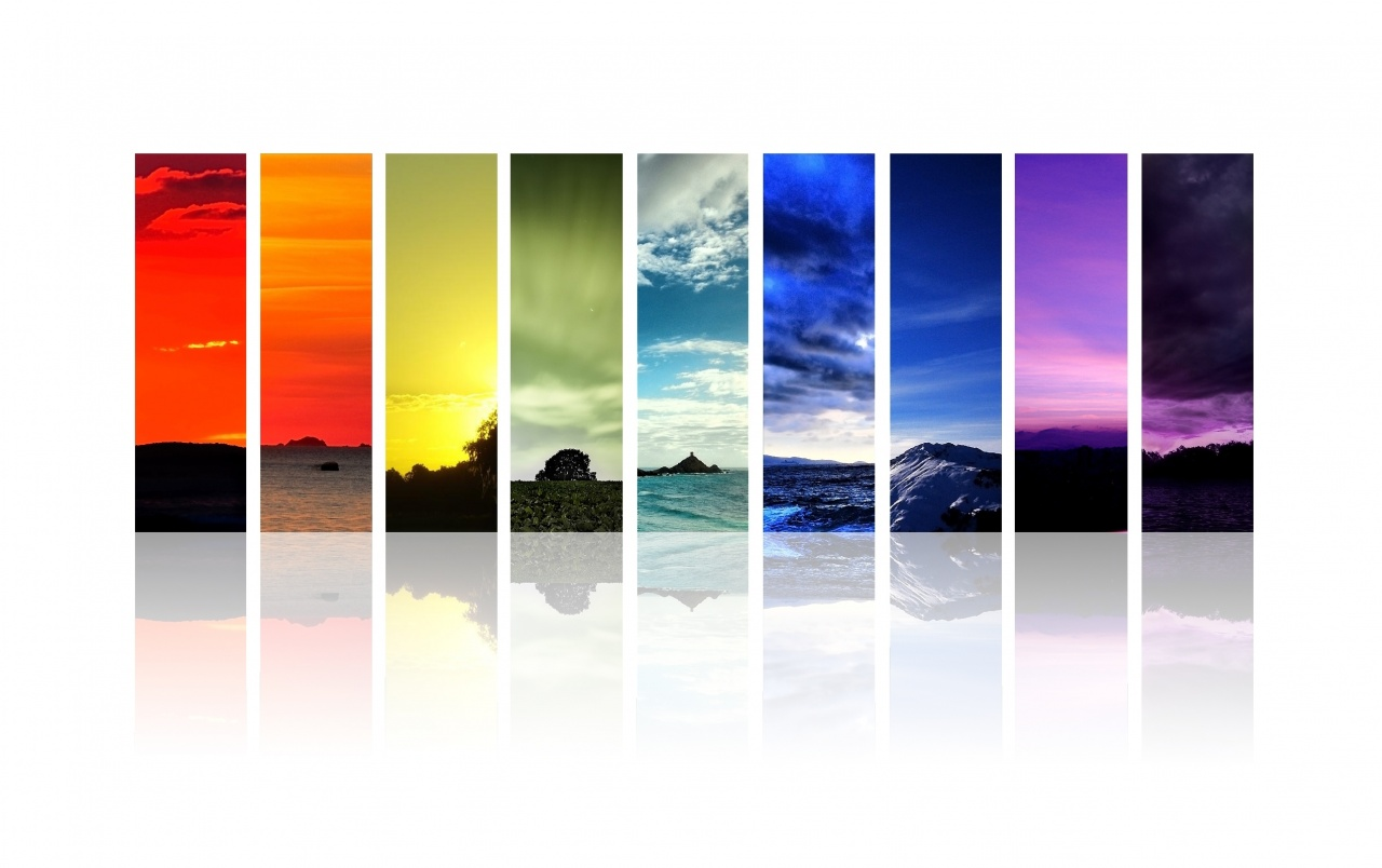 Multi Color Bar Code Scenic wallpapers