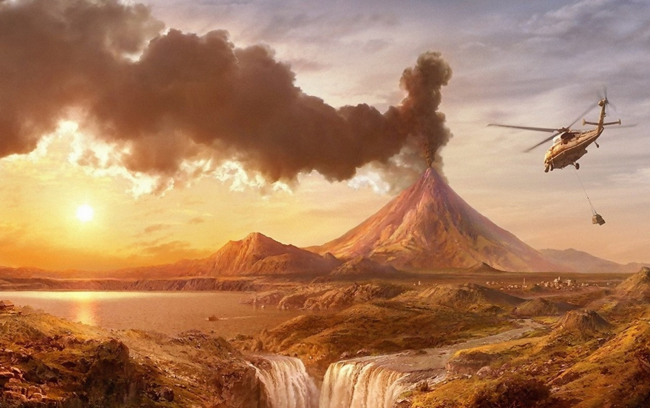 Volcano Helicopter Amp Scenery Wallpapers Volcano Helicopter Amp Scenery Stock Photos