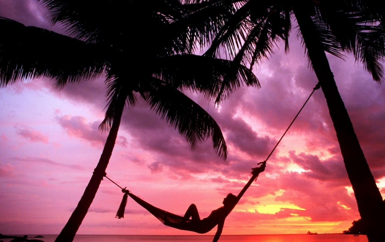 Sunset Beach Hammock Chillout wallpapers