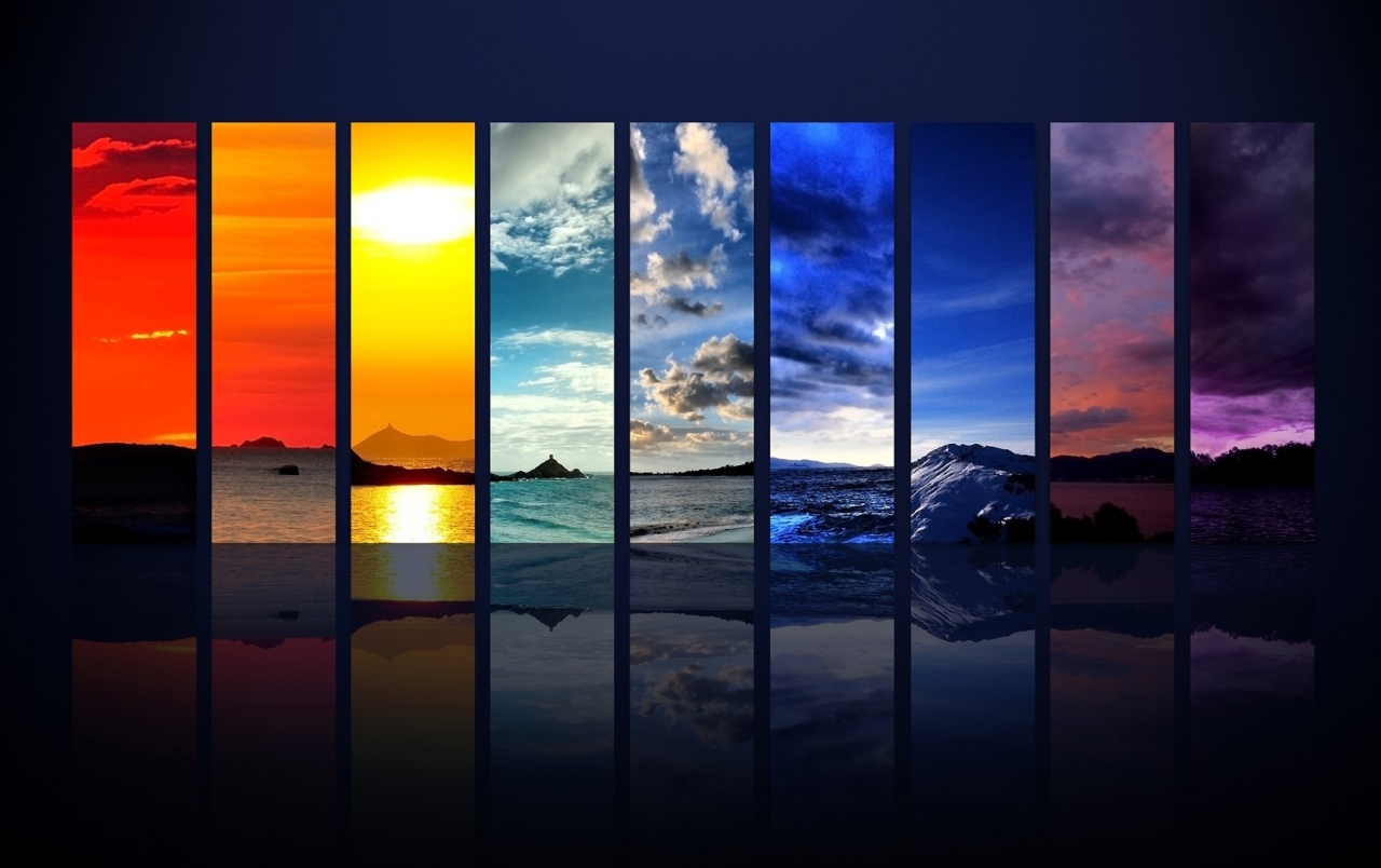 Mountains & Oceans Collage wallpapers