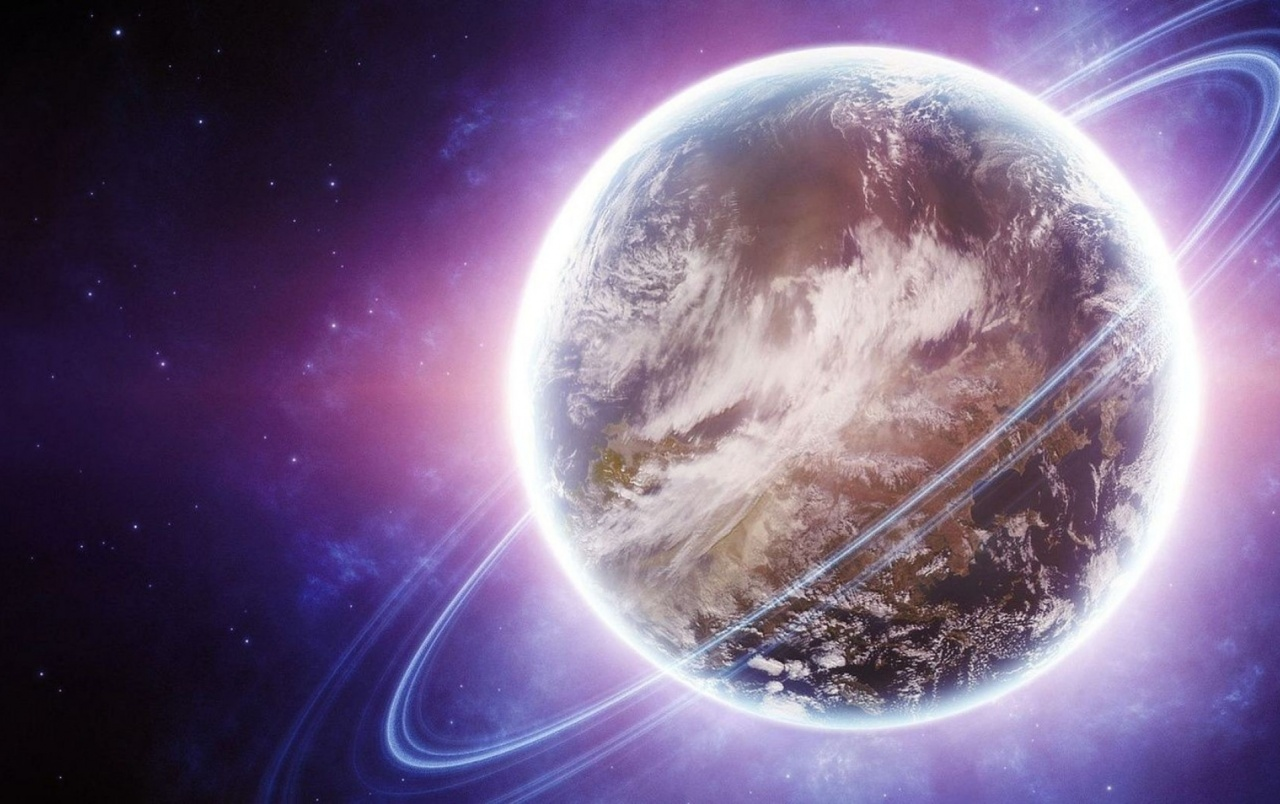 Planet rings purple space wallpapers planet rings - Purple space wallpaper ...