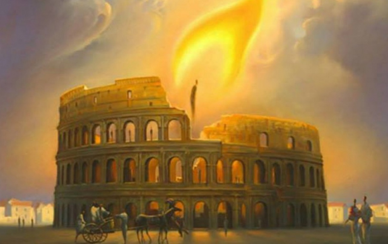 Colosseum Rome Candle Light Wallpapers