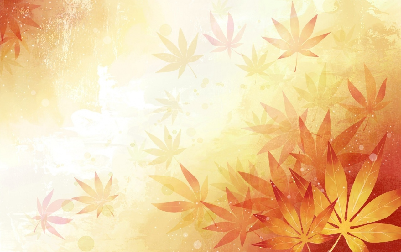 abstract leaves orange wallpapers