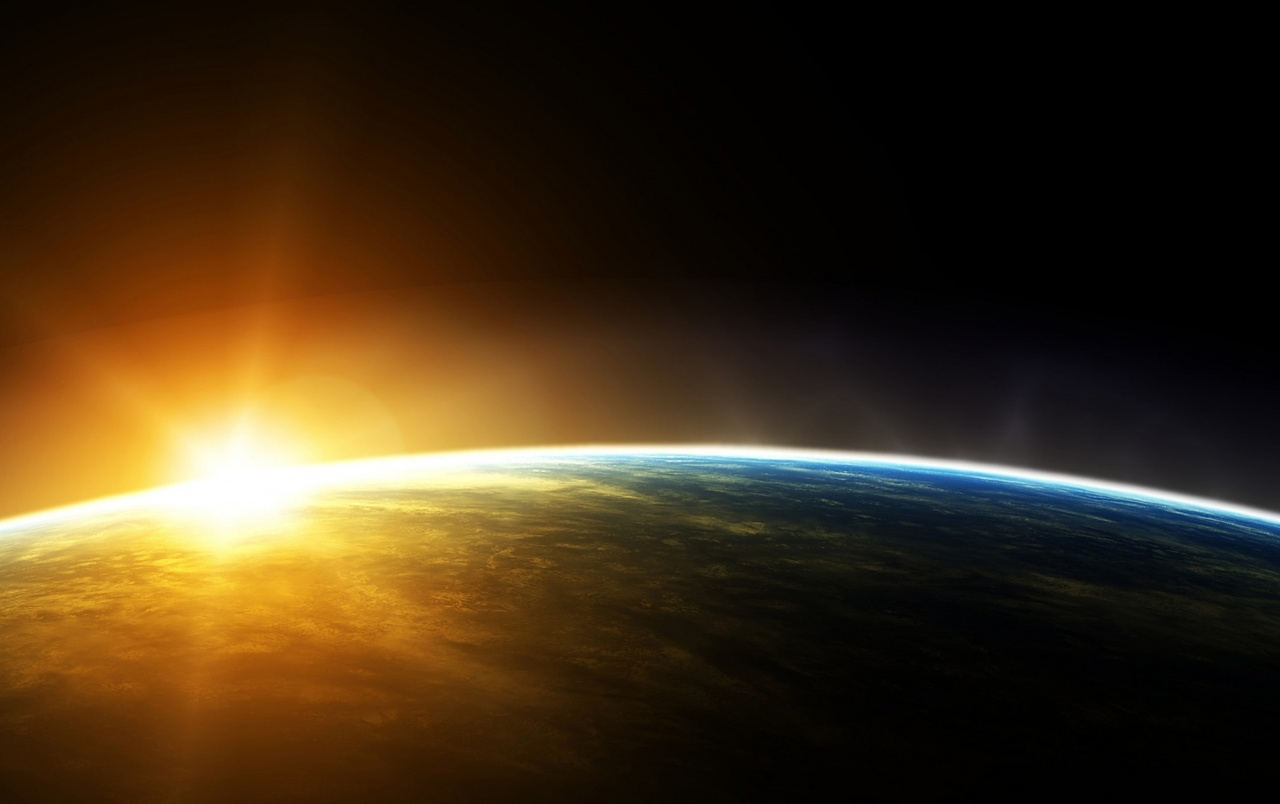 Sunrise in Outer Space wallpapers