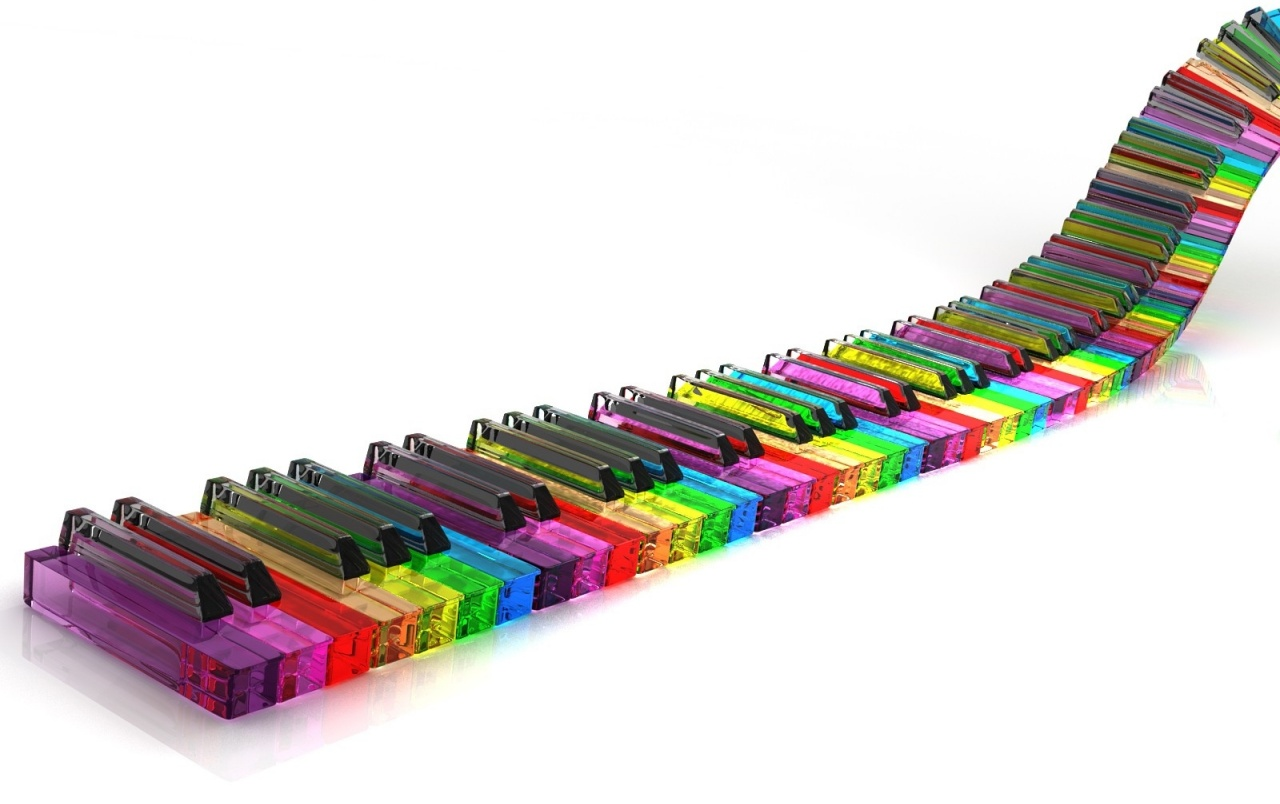 Original Colorful Piano Abstract Wallpapers