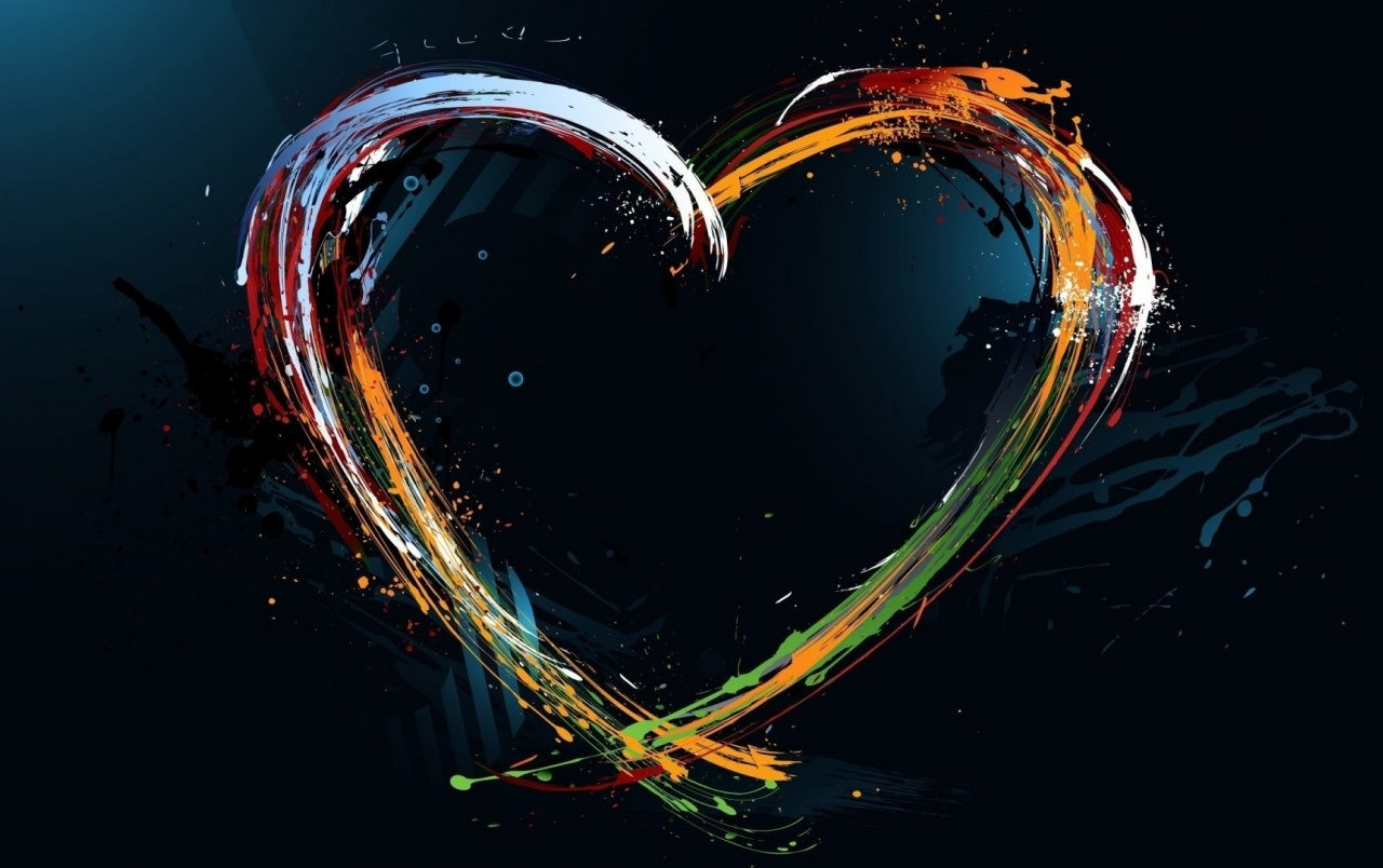 Painting Heart Splashes wallpapers