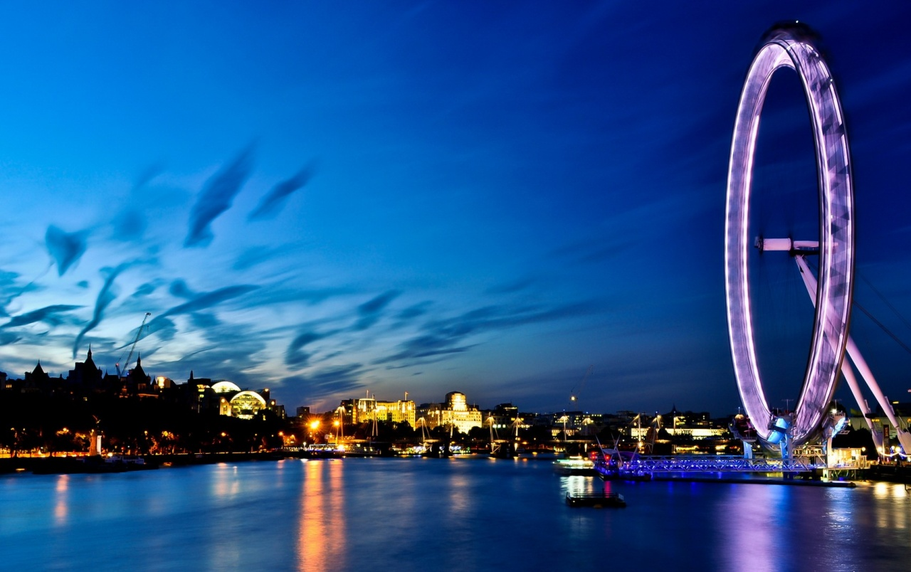 London Eye at Night wallpapers