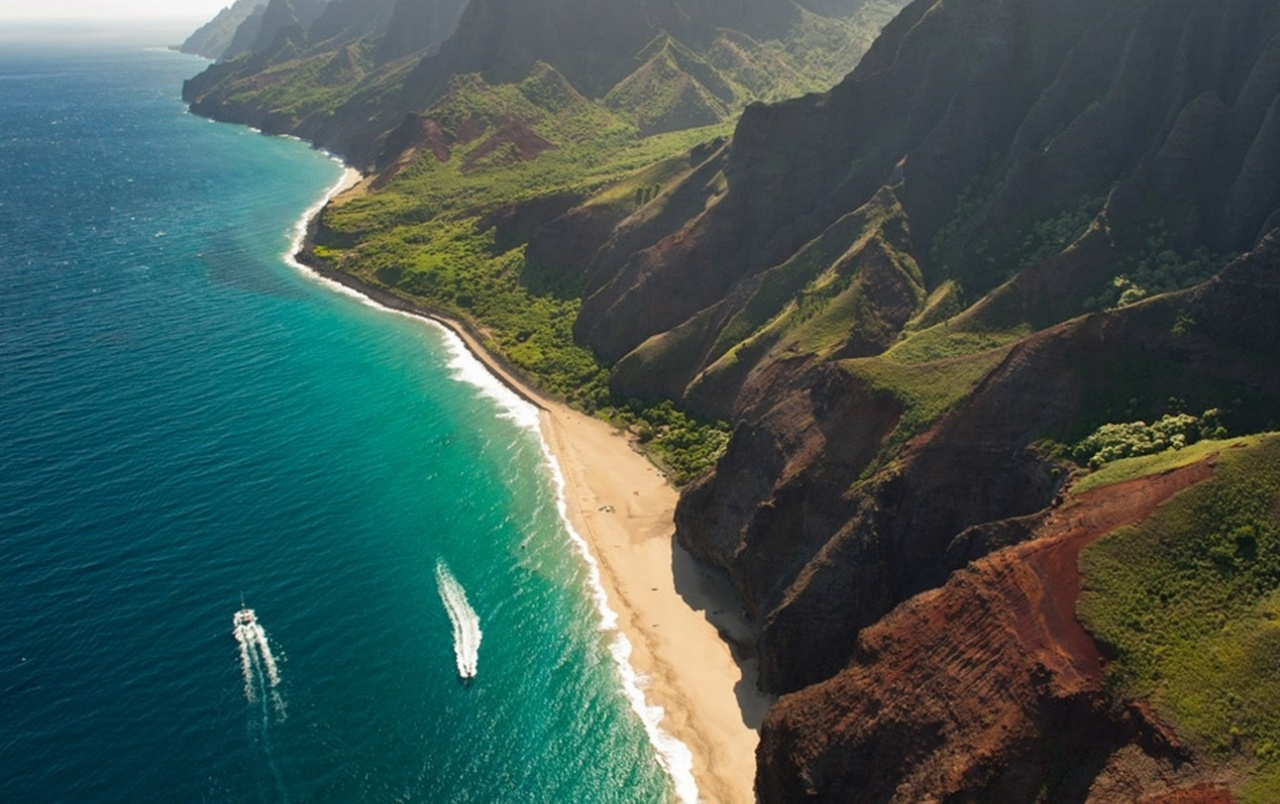 Cliffs Ocean Kauai Beach Hawai wallpapers