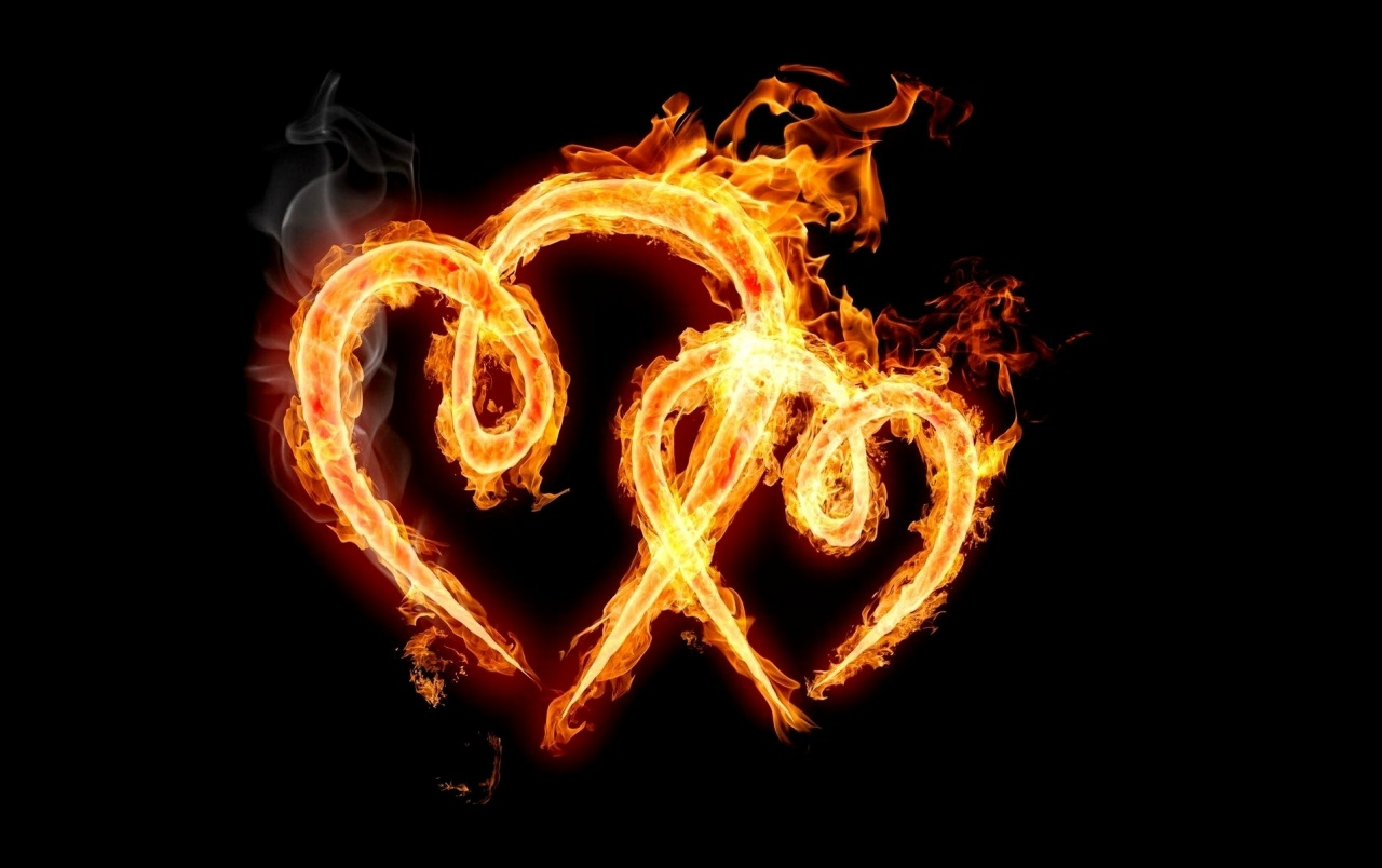 Burning Love Hd Wallpapers: Fiery Hearts Stock Photos