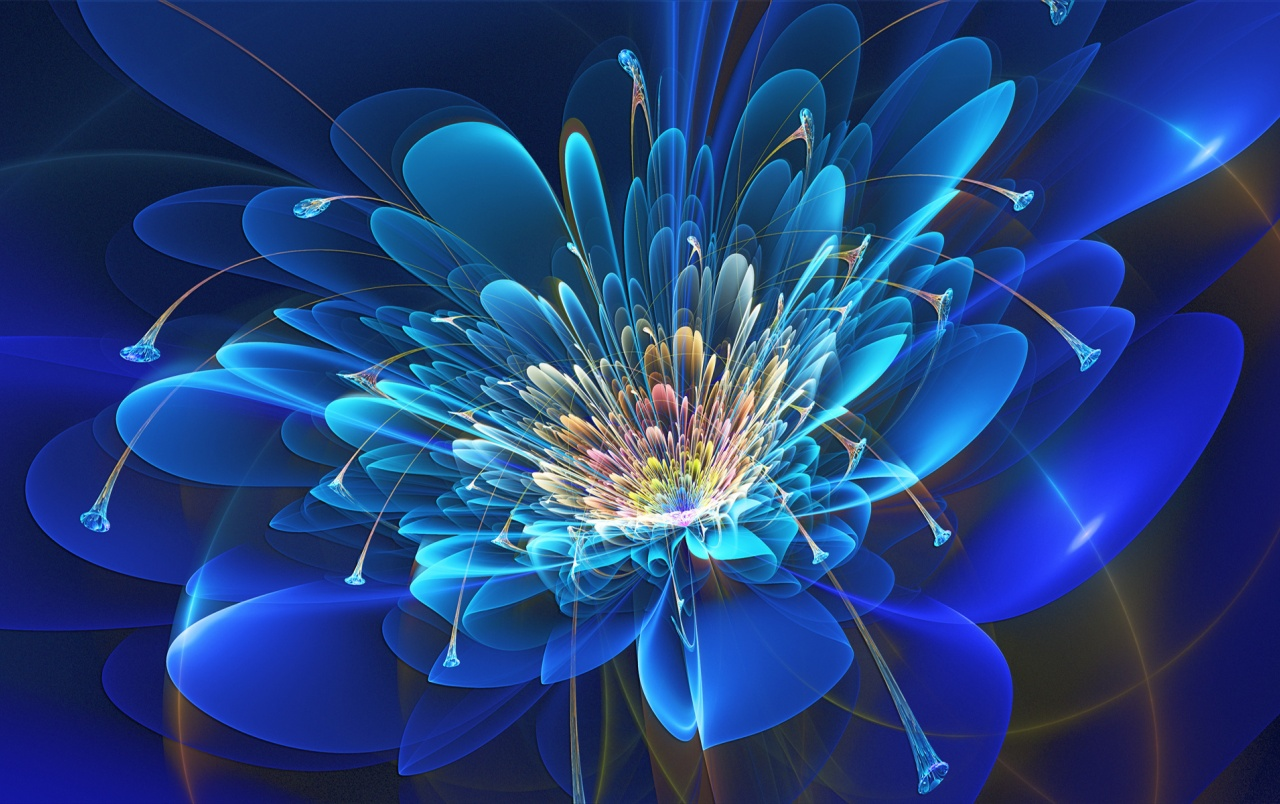 Abstract Design Flower Wallpaper: Abstract Fractal Flower Wallpapers