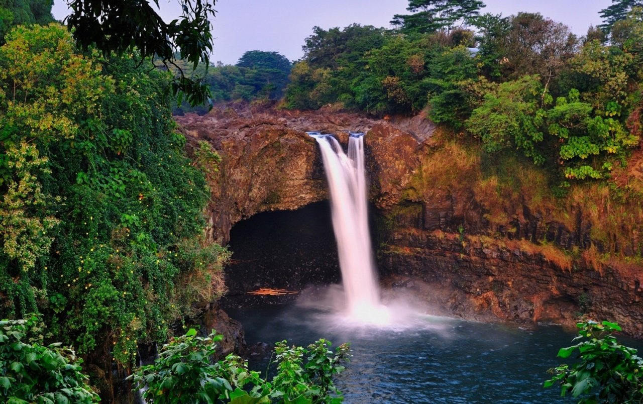 cliff waterfall nature lake wallpapers