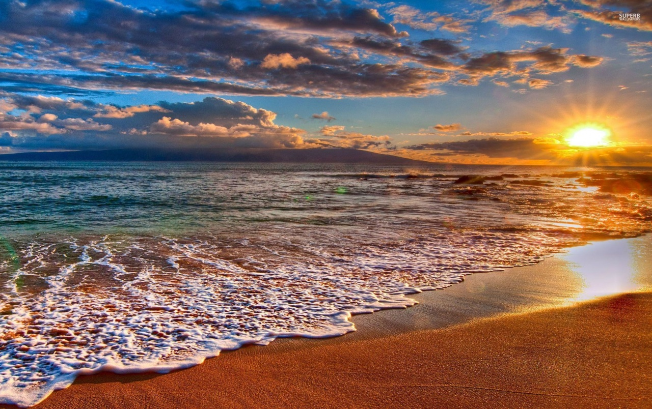 Free Sunset Screensavers And Wallpaper: Beach At Sunrise Stock Photos