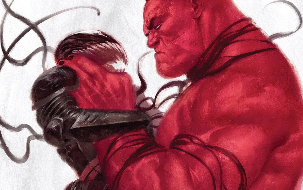Red Hulk vs Venom wallpapers