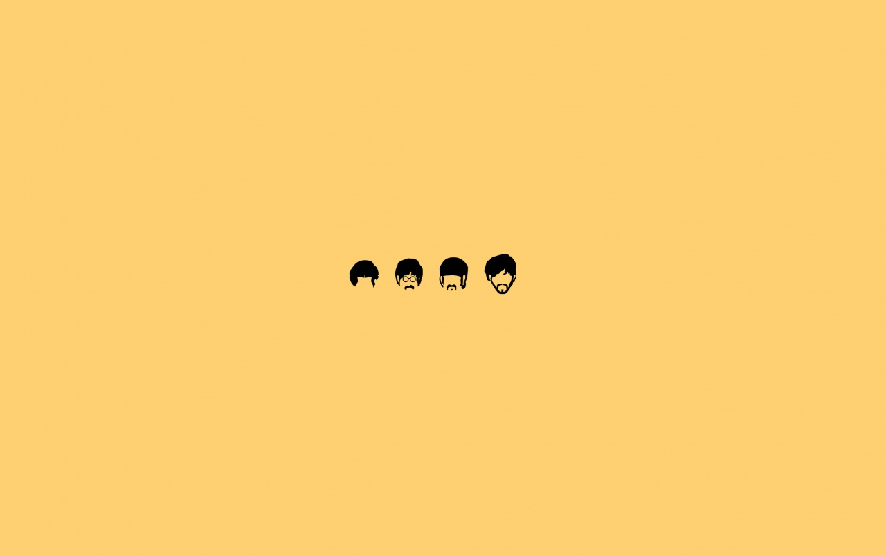 Wide The Beatles Minimalistic Illustration Wallpapers