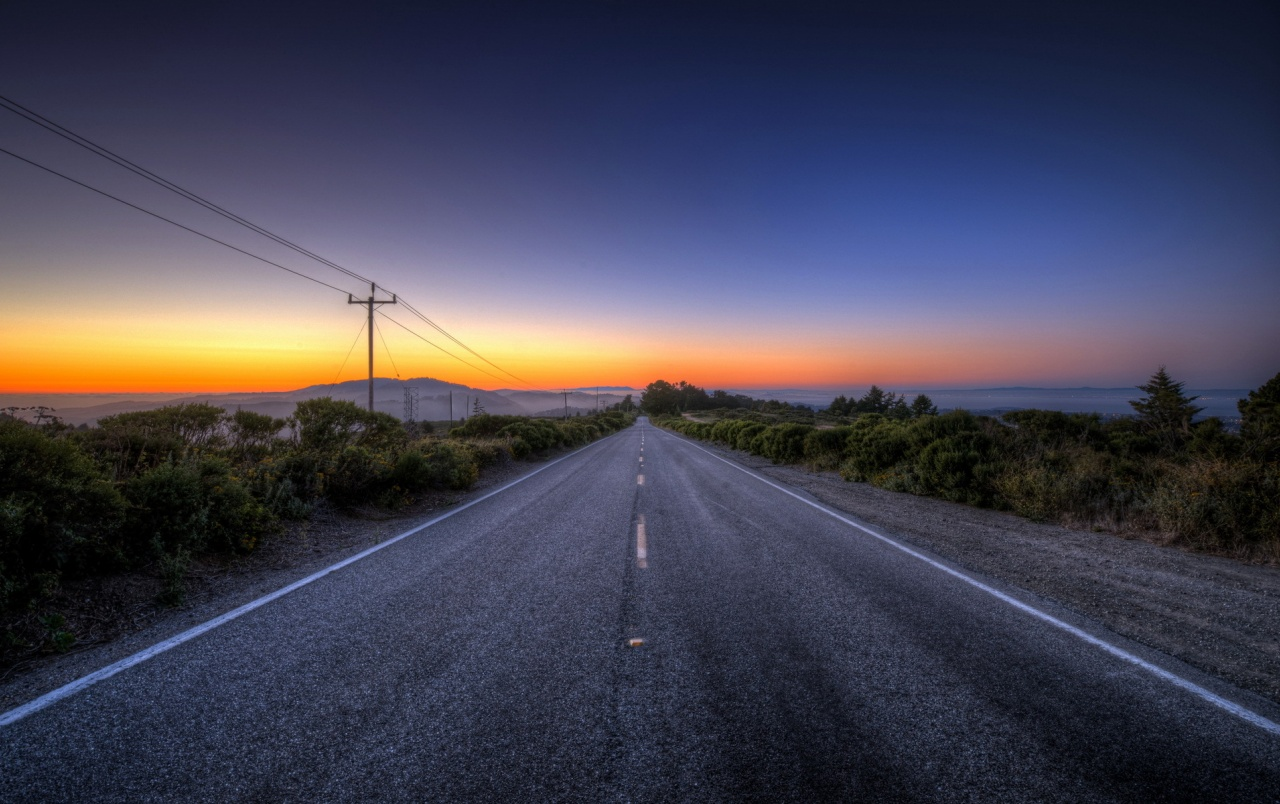 Stunning Road Nature Sunset Wallpapers And Stock Photos