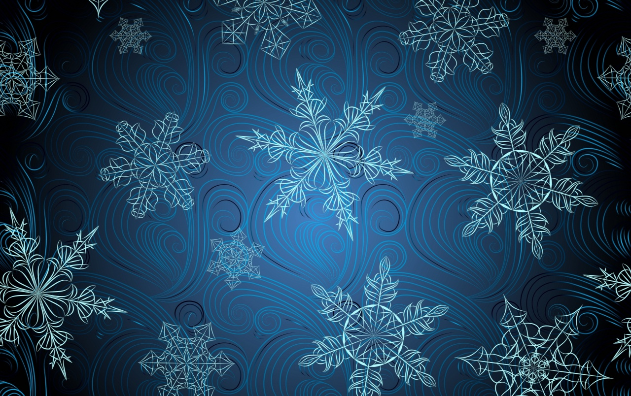 Blue Snowflakes Digital Art wallpapers