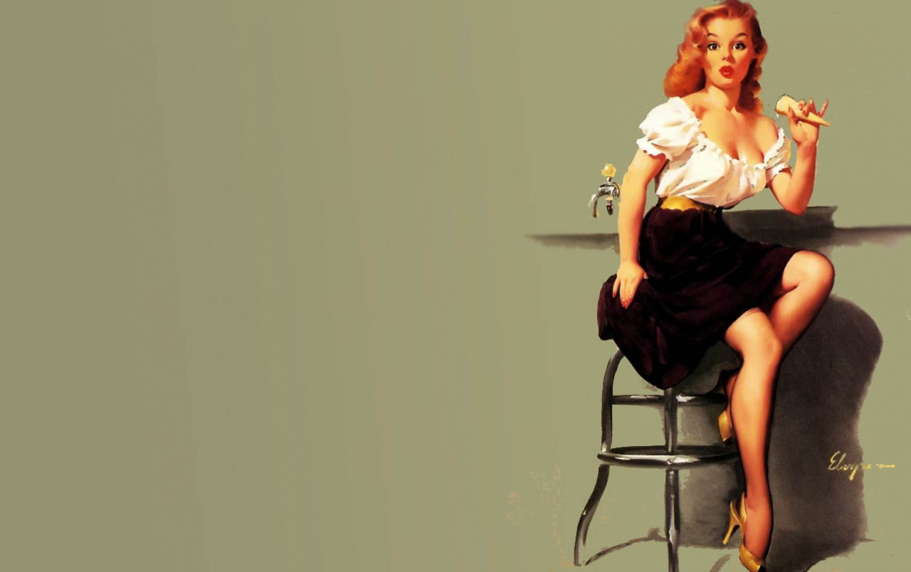 Classic Pin Up Wallpaper