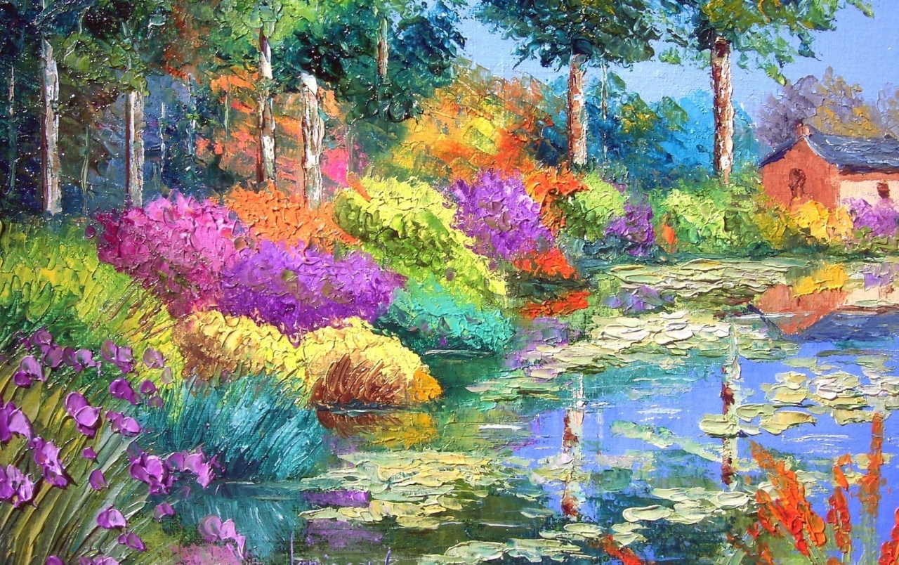 OriginalHD Colorful Flowers Painting Wallpapers