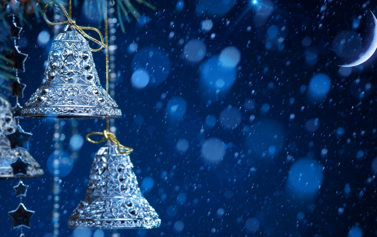 Silver Christmas Bells wallpapers