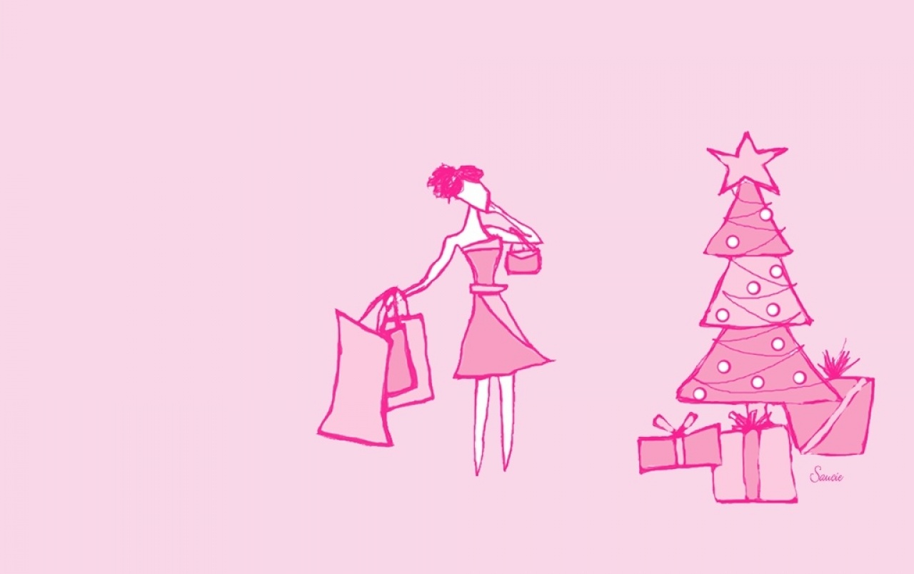 Pink Christmas wallpapers