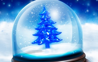 Christmas tree in globe wallpapers
