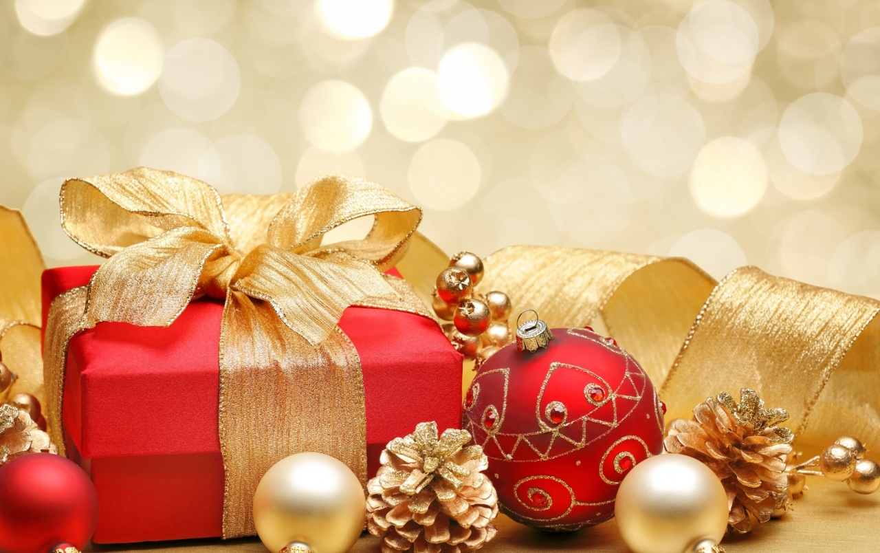 hd christmas gift box decor wallpapers
