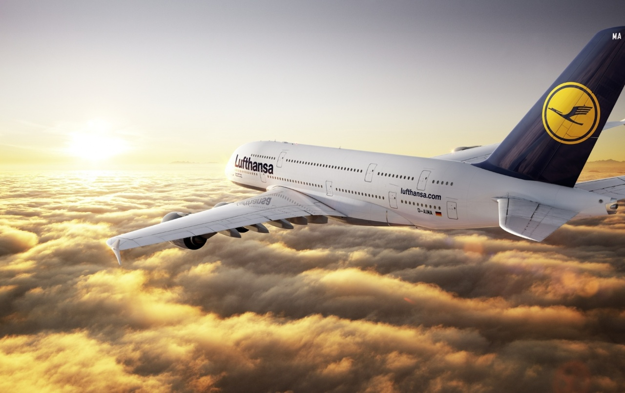 Airbus A380 de Lufthansa wallpapers