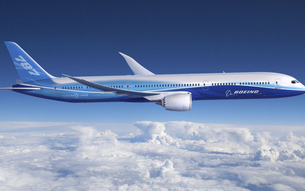 Blue Boeing-787 wallpapers
