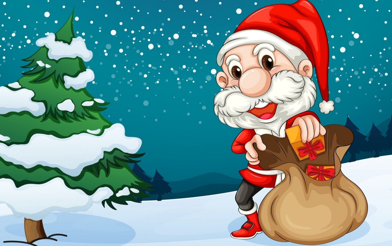 Happy Santa wallpapers